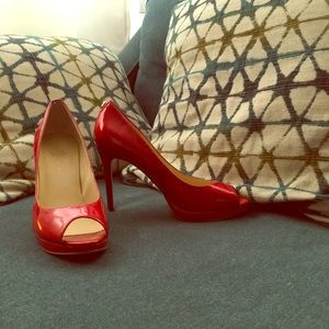 Red Ivanka Trump Pumps